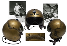 John Glenns U.S. Navy Helmet Worn During Project Bullet -- The First Supersonic Transcontinental Flight Dubbed Faster Than a Bullet That Made Glenn a Celebrity & Led to His Selection in Mercury 7